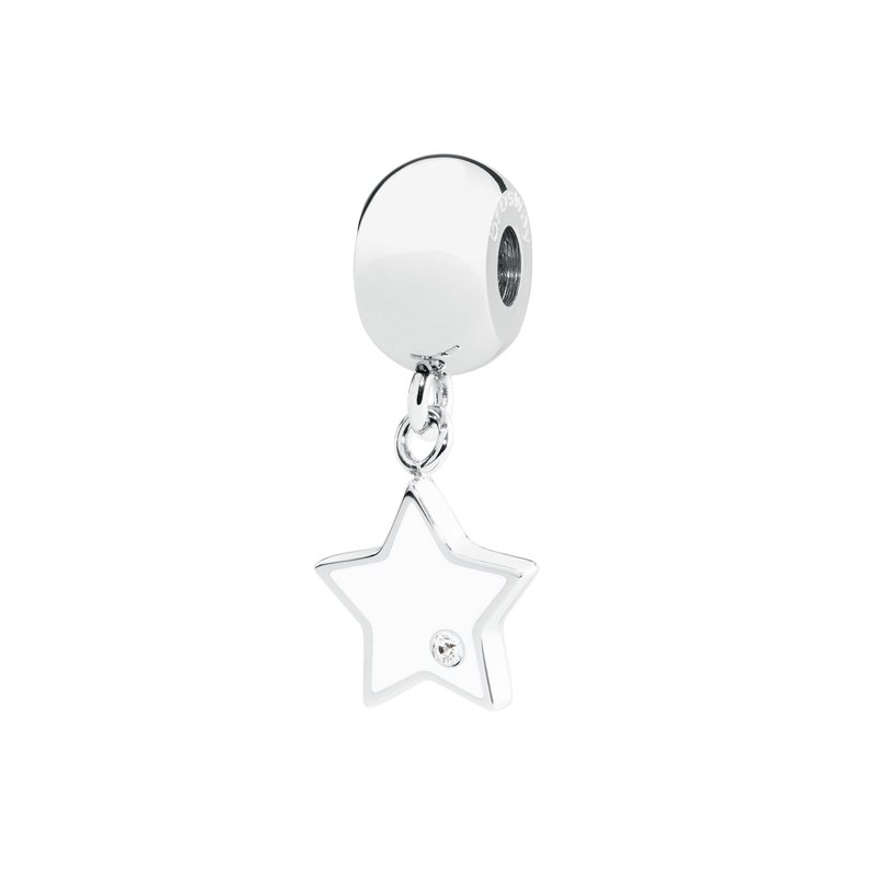 Brosway 316L stainless steel white enamel and Swarovski® Elements white crystal.