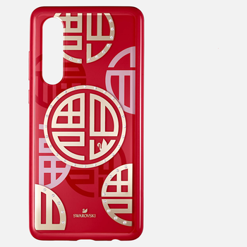 Full Blessing Fu Smartphone Case with Bumper, Huawei® P30, Red
