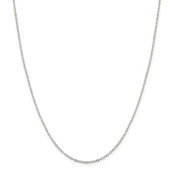 Sterling Silver 1.5mm Flat Open Oval Cable Chain