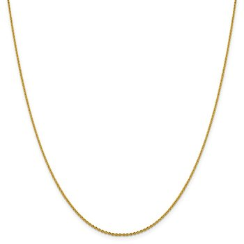Leslie's 14K 1.40 mm D/C Oval Open Cable Link Chain