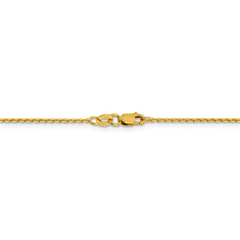 Leslie's Leslie's 14K 1.40 mm D/C Oval Open Cable Link Chain