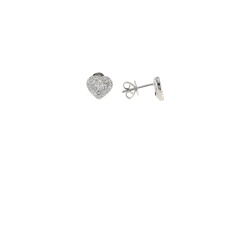 Roberto Coin 18Kt White Gold Diamond Heart Earrings
