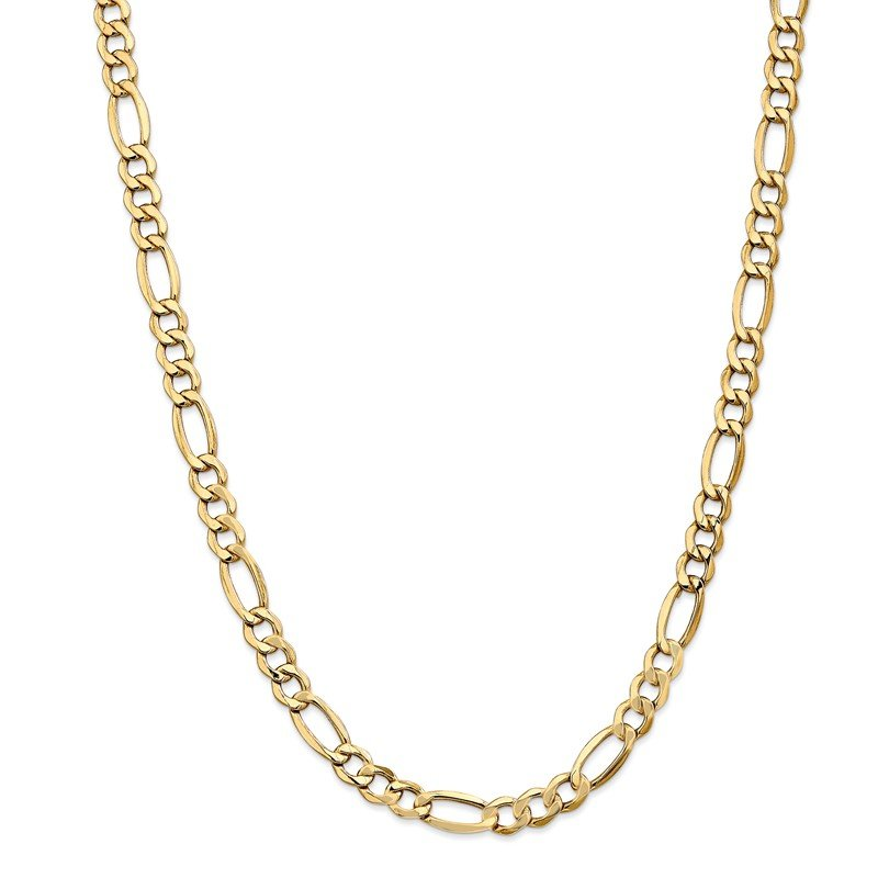 Lester Martin Online Collection 14k 7.3mm Semi-Solid Figaro Chain