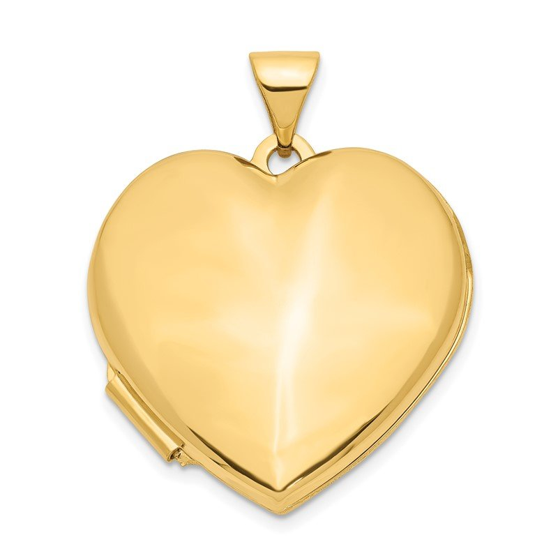 Quality Gold 14k 21mm Heart Domed Locket