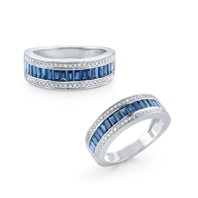 KC Designs Sapphire & Diamond Band Set in 14 Kt. Gold