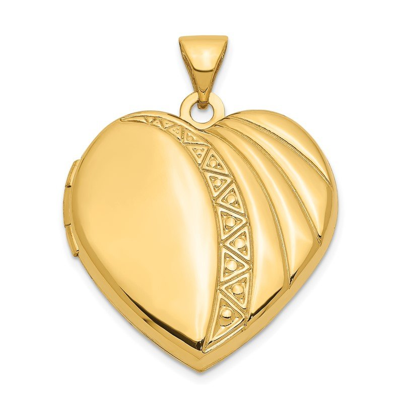 Quality Gold 14k 21mm Heart Locket