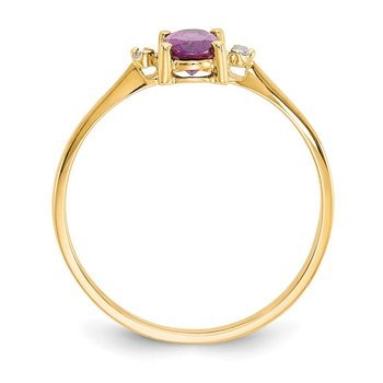 14k Diamond & Rhodolite Garnet Birthstone Ring