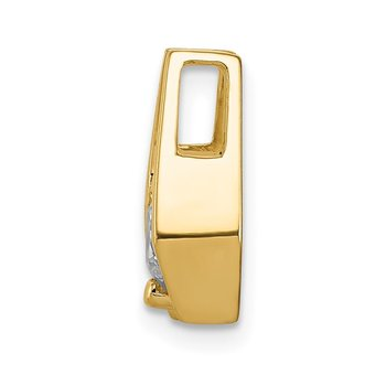 14k 5.25mm AA Diamond Slide
