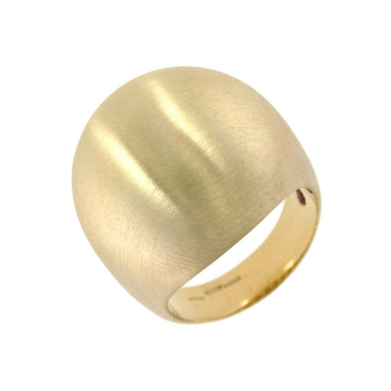 Roberto Coin 18Kt Gold Dome Ring With Satin Finish
