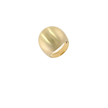 18KT GOLD DOME RING WITH SATIN FINISH