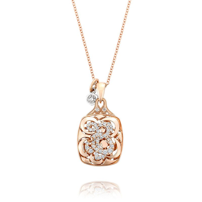 Tacori Fashion Petite Initial Pendant in Rose Gold