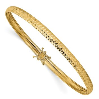 14K Yellow Gold Polished D/C Flexible Bangle