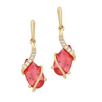 Padparadscha Earrings-CE4129YPD