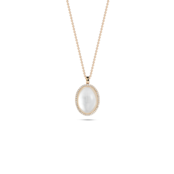 Pendant With Diamonds, Crystal And Mother Of Pearl