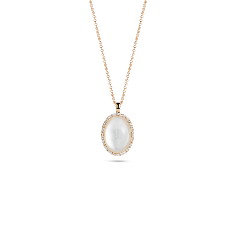 Roberto Coin Pendant With Diamonds, Crystal And Mother Of Pearl
