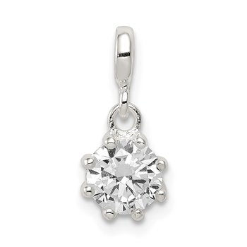 Sterling Silver Clear CZ Enhancer