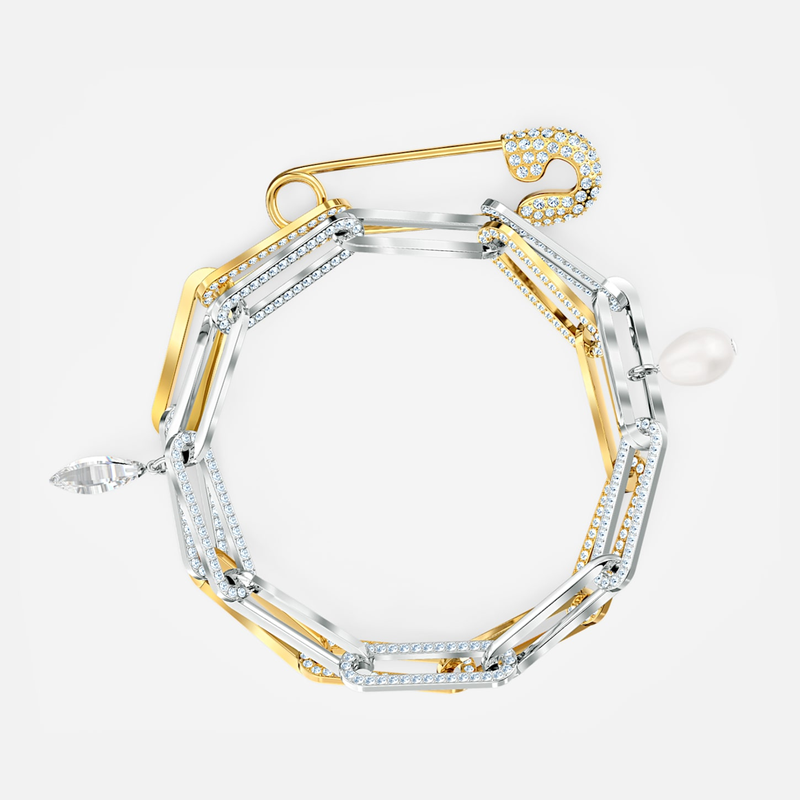 Swarovski So Cool Chain Bracelet, White, Mixed metal finish