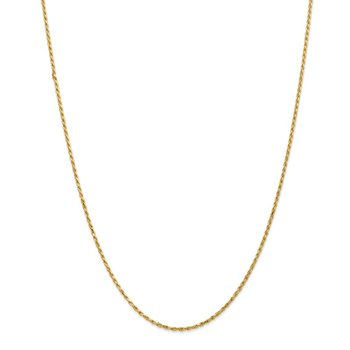 14k 1.6mm Solid D/C Machine-Made with Lobster Rope Chain