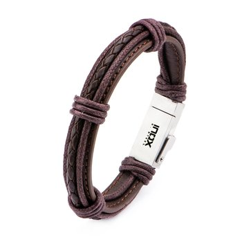Genuine Brown Leather Android USB Bracelet