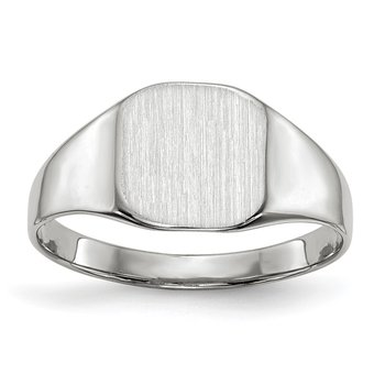 14k White Gold 8.5x8.5mm Closed Back Signet Ring