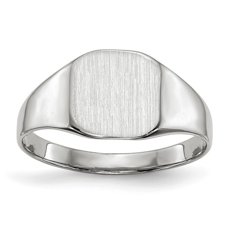 Quality Gold 14k White Gold 8.5x8.5mm Closed Back Signet Ring