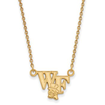 Gold-Plated Sterling Silver Wake Forest University NCAA Necklace