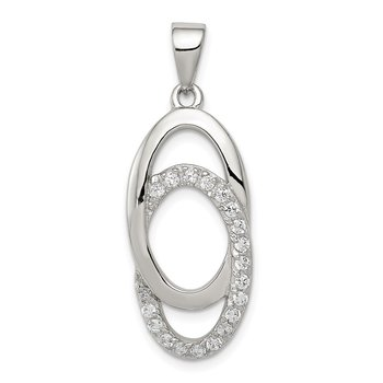 Sterling Silver CZ Fancy Pendant