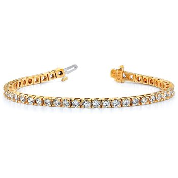 14ky True Origin Lab Grown VS/SI, D E F, Diamond Tennis Bracelet