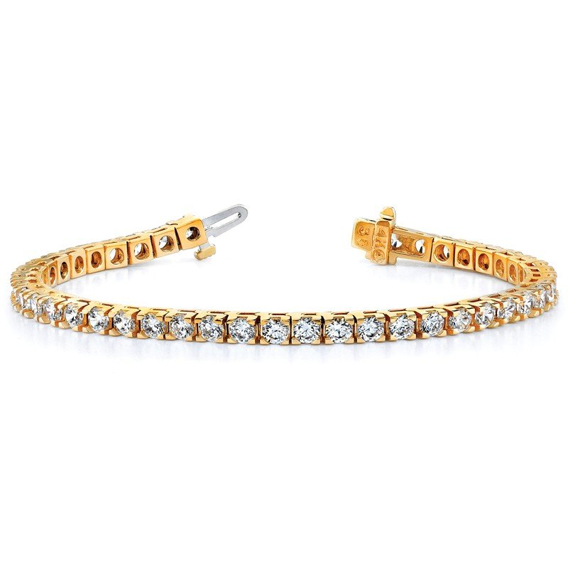 True Origin 14ky True Origin Lab Grown VS/SI, D E F, Diamond Tennis Bracelet