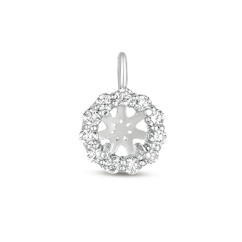 S. Kashi  & Sons Diamond Halo Pendant for 3/4ct round