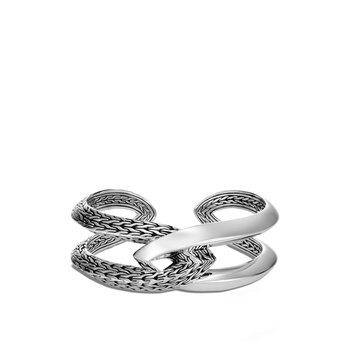 Classic Chain Knife Edge Cuff in Silver