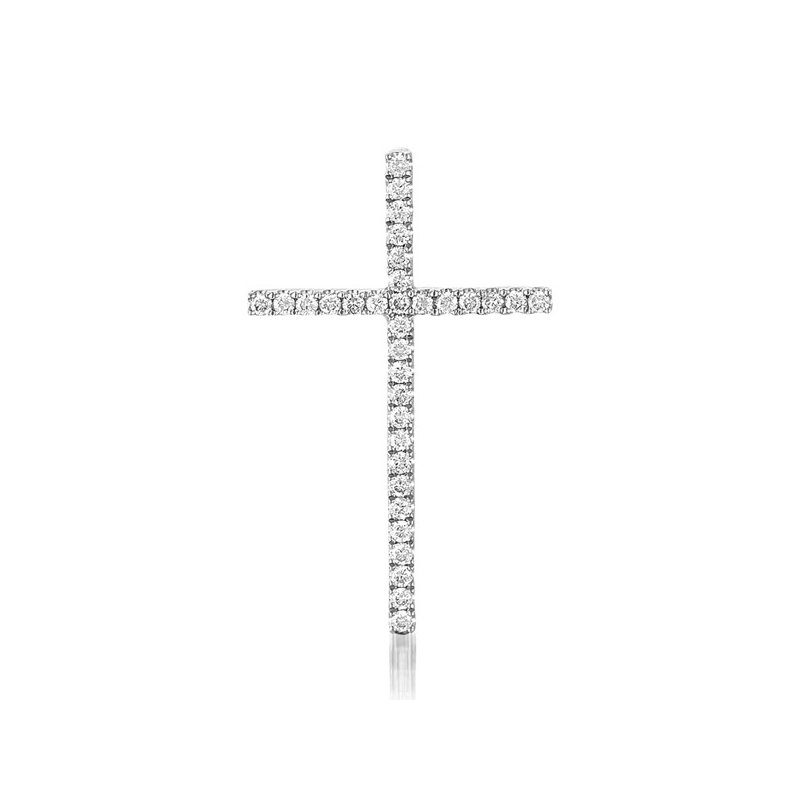 S. Kashi  & Sons White Gold Cross Pendant