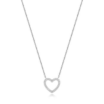 Diamond Necklace Heart