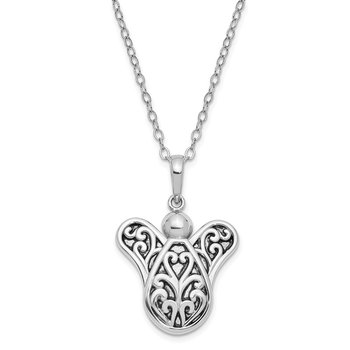 Sterling Silver Antiqued Another Angel In Heaven 18in. Necklace