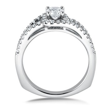 Diamond Engagement Ring Mounting in 14k White Gold (.33 ct. tw.)
