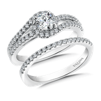Valina Bridals Diamond Engagement Ring Mounting in 14k White Gold (.33 ct. tw.)