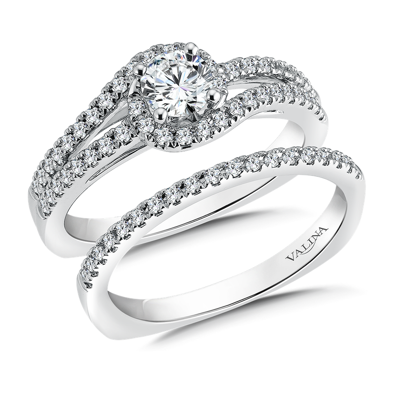 Valina Diamond Engagement Ring Mounting in 14k White Gold (.33 ct. tw.)