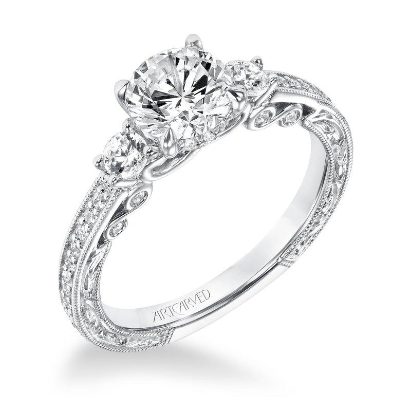 b2ba2050801 ArtCarved ArtCarved Rowan Diamond Engagement Mounting. Stock   31-V688ERW-E