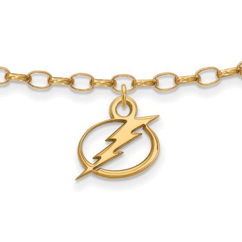 Gold-Plated Sterling Silver Tampa Bay Lightning NHL Bracelet