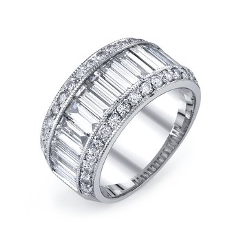 Diamond Wedding Band 2.80 ct rd, 0.80 ct bg