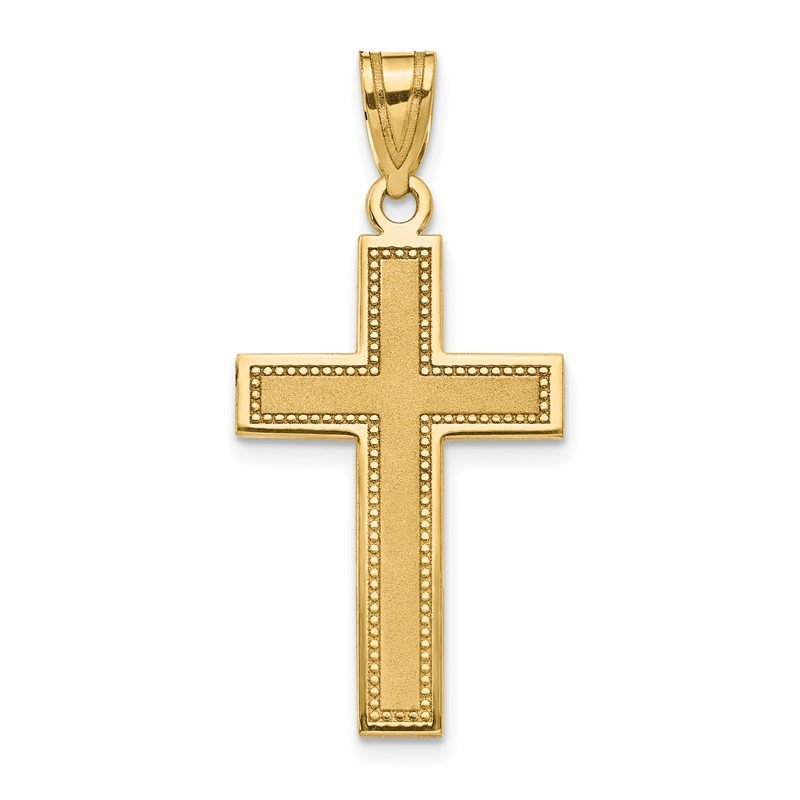 Lester Martin Online Collection 14K Large Satin Cross Pendant