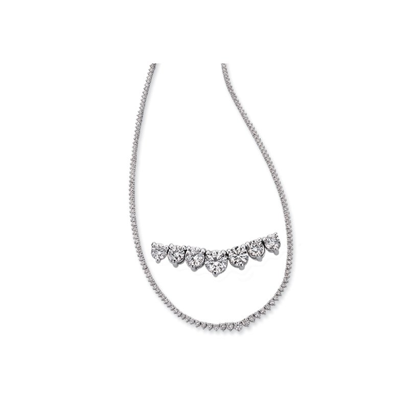 S. Kashi  & Sons Diamond Necklace Three Prong