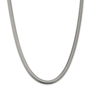 Sterling Silver 6.25mm Flat Oval Snake Chain
