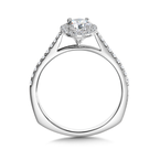 Valina Bridals Diamond Halo Engagement Ring Mounting in 14K White Gold (0.23 ct. tw.)