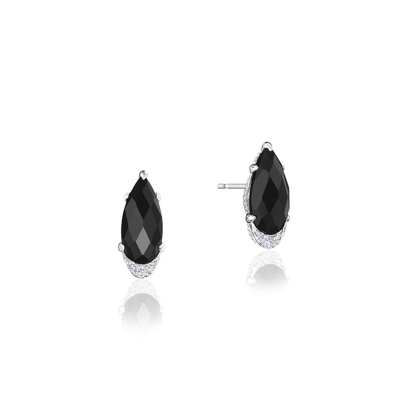 Tacori Fashion Pear-Shaped Gem Earrings with Black Onyx