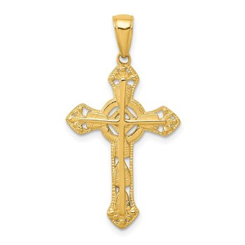 14K Fancy Cross Pendant