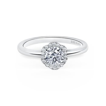Halo Floral Diamond Engagement Ring