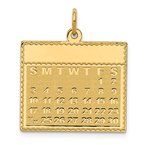 Quality Gold 14k Friday the First Day Calendar Pendant