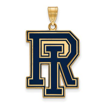 Gold-Plated Sterling Silver University of Rhode Island NCAA Pendant
