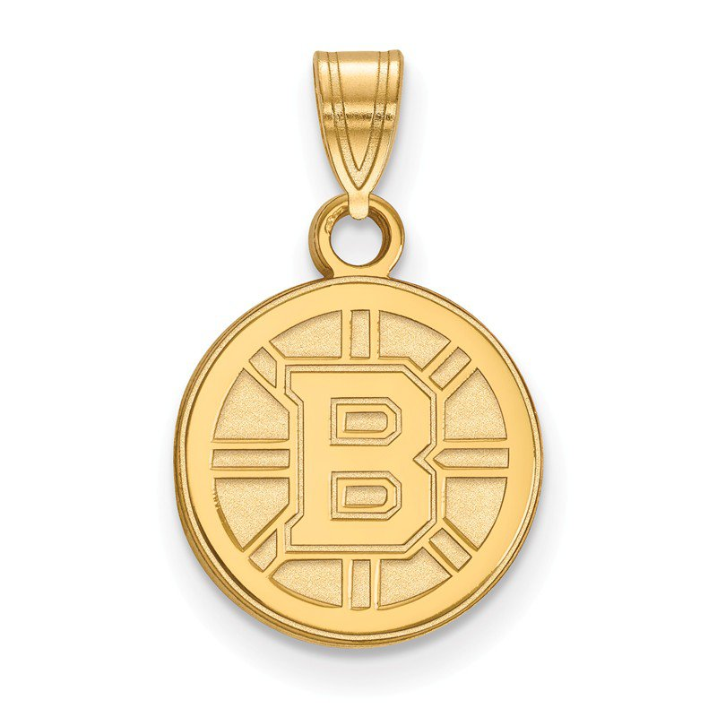 NHL Gold-Plated Sterling Silver Boston Bruins NHL Pendant